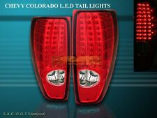 2004-2009 CHEVY COLORADO / GMC CANYON TAIL LIGHTS LED RED BRAKE LAMPS NEW