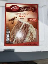 NEW BETTY CROCKER DELIGHTS SUPER MOIST SPICE CAKE MIX 15.25 OZ BOX FREE SHIPPING