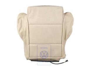 VW Golf MK3 3.5 Cabrio Front Seat Cover Light Beige Leather Alcantara OEM NOS