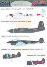 Owl Decals 1/72 RED STARS ON NIGHT SKY Russian Night Fighters