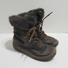 Merrell Women's Decora Sonata Waterproof Boots Size 7 Brown Leather Faux Fur