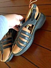 DANSKO Womens Black Leather Strappy Sandals 40 / 9.5-10