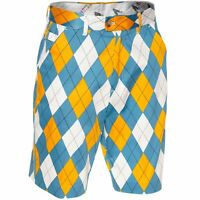 Golf Shorts by Royal and Awesome Diamond Dude Blue Yellow Argyle Size 30 - 44