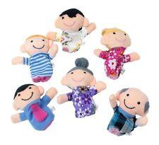 6tlg. Familie Fingerpuppen Finger Puppe Puppentheater Handpuppe Kinder Spielzeug