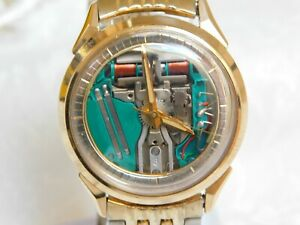 OROLOGIO BULOVA ACCUTRON 214 SPACEVIEW VINTAGE 1968  REVISIONATO CHAPTER RING