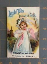 ANTIQUE Little Tots Drawing Book Towns & Wright Buffalo NY Advertising Look!