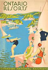 Art Ad ONTARIO RESORTS Travel Deco  Poster Print