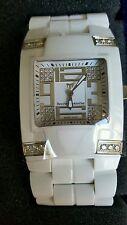 Authentic Technomarine Ceramic Genuine Diamond Watch Mens BlackSnow NWT  Swiss