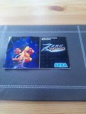 ZERO WING Mega Drive MANUAL ONLY rare item