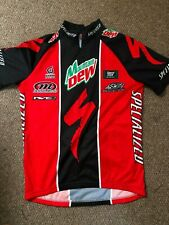 Vintage Specialized Mountain Dew SRAM Mountain Biking Jersey Size Small