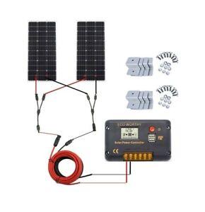ECO-WORTHY Kit pannello solare 200W per camper Caravan Camper batteria