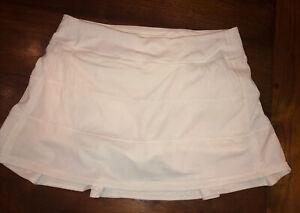 Lululemon 8 Reg  Pace Rival Skirt Skort Solid White