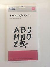 """Quickutz SUPERMKT-M """" Supermarket"""" 4"""" x 8"""" All In One Mini  Alphabet Set"""""""