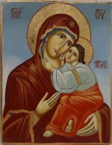 Small Mid 20th C. Greek Orthodox Icon on Wood