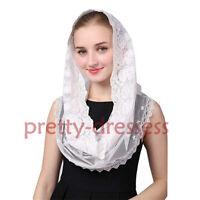 Women Mantilla for Church Lace Headcovering HeadWrap Catholic Latin Mass Veils