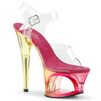Pleaser MOON-708MCT Women Clear Pink Tinted Pageant Cosplay Heel Platform Sandal