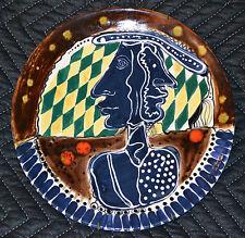 1996 Dopico Lerner ceramic PLATE.Ibeyi Faces.Cuban American Art.Arte cubano