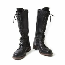 LIMI feu Leather Long Boots Size US About  8(K-46733)