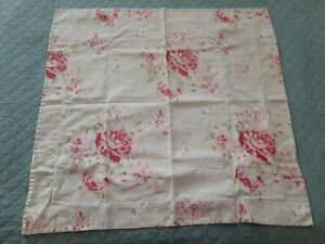 1 Pottery Barn Hayden Floral Pink Cottage Roses EURO Pillow Sham