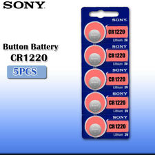 5 x SONY CR1220 batteries Lithium Power 3V Coin Cell BR1220 DL1220 Pack 1
