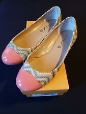 Multicolor Design Coral Ballet Flat Shoe