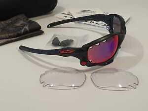Oakley Racing Jacket occhiali da sole Frame Matte Black/Lens Prizm Road + Clear