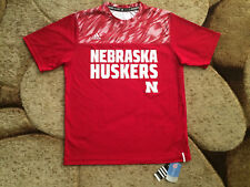 Mens Adidas Climalite Nebraska Cornhuskers T-Shirt Medium Red NWT MSRP $50.00