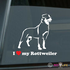 I Love My Rottweiler Sticker Die Cut Vinyl - rotty rott rottie