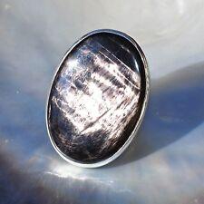 Hypersthen Ring, 925er Silber, Edelsteinring (20682), Echtschmuck
