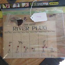 New listing Vintage River Plug Devon display card (lot#9988)