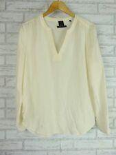 DAVID LAWRENCE Top/blouse Sz 12 Pure silk Cream