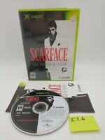 Scarface: The World is Yours (Microsoft Xbox, 2006) Complete, No Scratches!