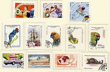 Madagascar Malagasy Lot of 13 Stamps Sports Birds Auto Ship Marine Life Used FRE