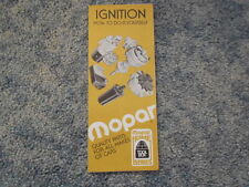 VINTAGE MOPAR IGNITION HOW TO DO-IT-YOURSELF HOME SERIES BOOKLET ORIGINAL OEM
