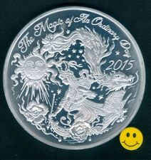 2015 Krewe Of Orpheus Butterfly Dragon Thick 8 ga 2 1/2 inch Mardi Gras Doubloon