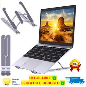 SUPPORTO PORTATILE PER PC computer base notebook tablet pieghevole regolabile ✅