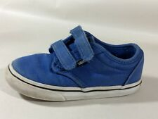 Vans Boys 9 Toddler Casual Sneaker Skate Shoe Canvas Blue Casual Off The Wall
