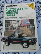 Vintage Book Chilton's Repair Manual Chevrolet S-10 Gmc S-15 Pick-Ups 1991