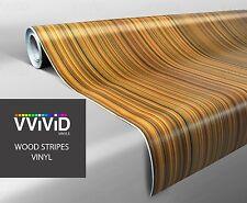 VViViD XPO 2 ft x 48 Zoll Striped Maple Faux Wood Grain architektonische Vinyl wickeln