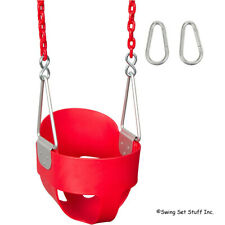 Highback Full Bucket Swing Seat With 5 1/2 Ft Coated Chain