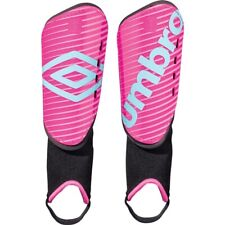 """New Umbro Arturo Soccer Shin Guards Pink Youth Size Large (3' 11"""" - 4' 7"""")"""