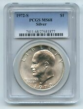1972 S $1 Silver Ike Eisenhower Dollar PCGS MS68