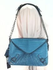 REBECCA MINKOFF Collection Purse Maria Shoulder Bag Clutch Turquoise $795 New