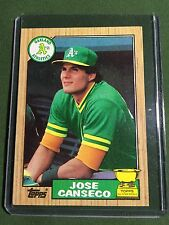 1987 Topps #620 Jose Canseco Rookie- Mint/near mint in hard plastic toploader