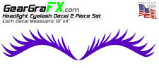 Two Eyelash Decal Set Various Colors for VW, Mini Cooper, Dodge Neon and Others