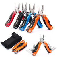 9 in 1 Outdoor Survival Stainless Steel Multi Tool Plier Mini Knife Screwdriver