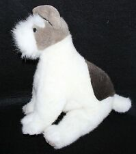 PLush Creations Terrier Puppy Dog Stuffed Animal Lovey Grey White 13""