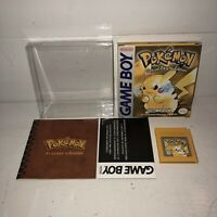 VGC Pokemon Pikachu Yellow Version 1ST PRINT Complete Nintendo GameBoy AUTHENTIC