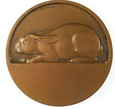 France animals rabbit LAPIN by Georges Ridet bronze 50mm