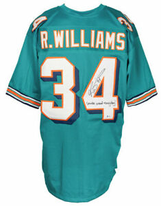 Ricky Williams Signed Teal Football Jersey Smoke Weed Everyday BAS